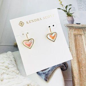 Kendra Scott Ari dichroic gold earrings